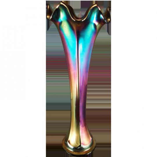 Fenton Flute Red Vase Carnival Glass Showcase
