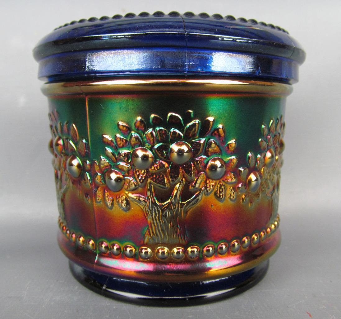 Dresser Powder Jar Carnival Glass Showcase